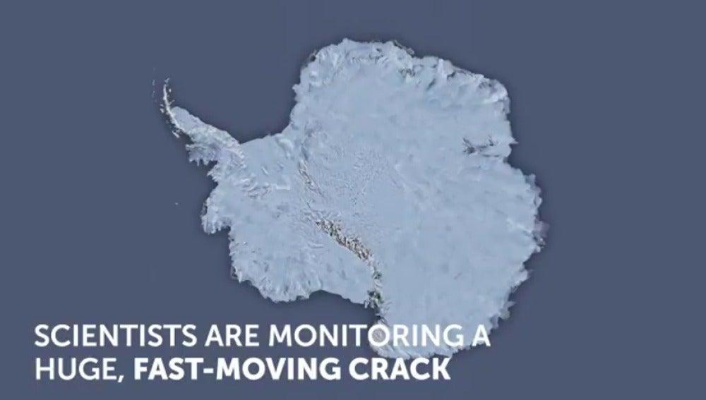 Frame 1.393447 de: Científicos advierten de que un iceberg del tamaño de la isla de Mallorca está a punto de formarse en la Antártida