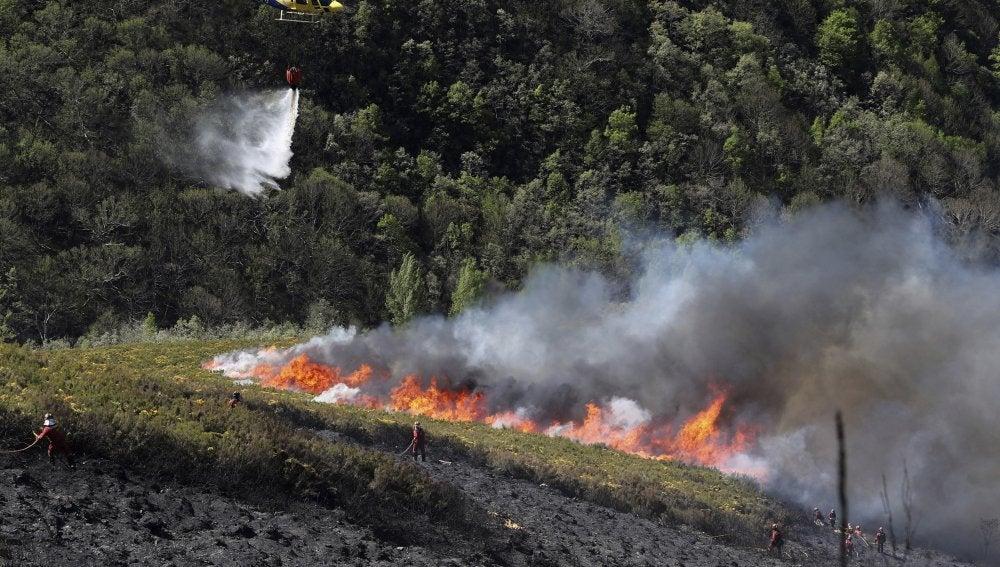 Incendio en El Bierzo