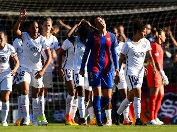 El PSG celebra un gol contra el Barcelona