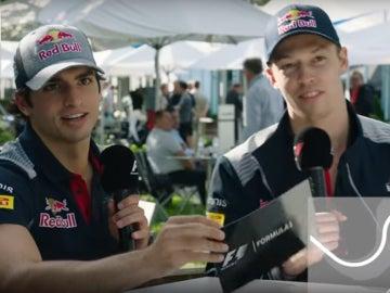 Sainz y Kvyat, en el test de la Fórmula 1