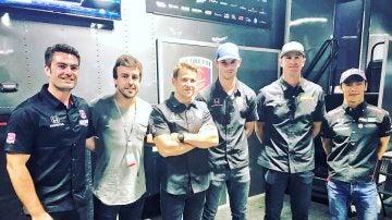 Alonso, con el equipo Andretti