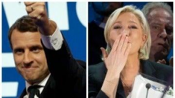 Macron y Le Pen solo portada