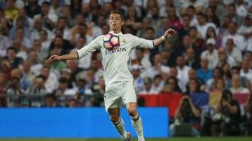 Cristiano Ronaldo durante el Clásico