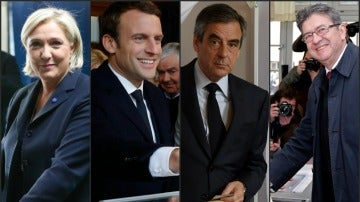 Los candidatos en las presidenciales francesas votan