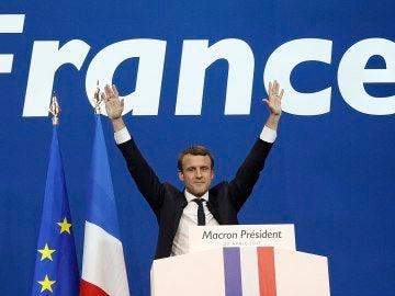 Emmanuel Macron, tras la primera ronda de las presidenciales
