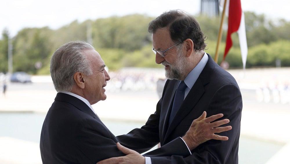Mariano Rajoy y Michel Temer