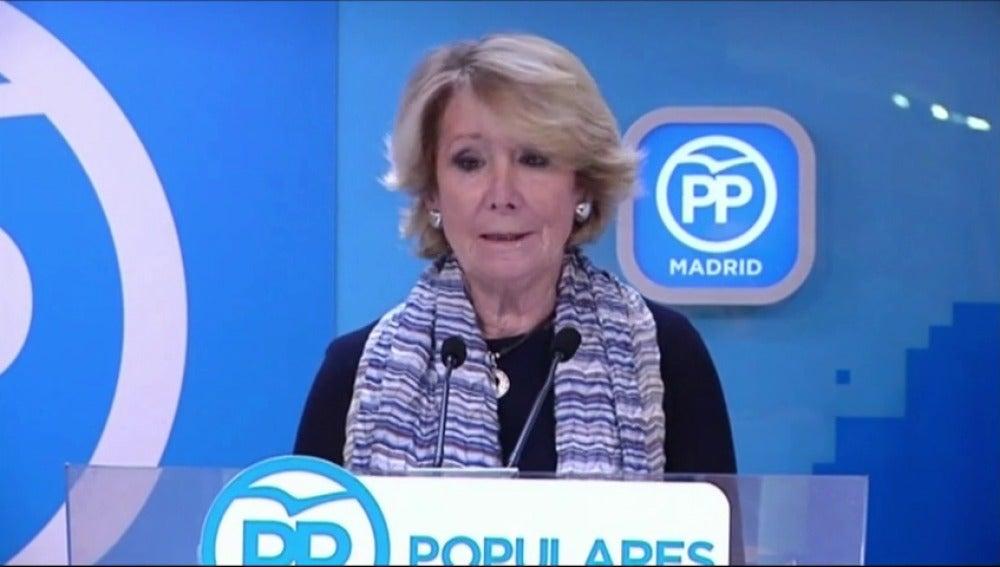 Frame 21.68 de: Esperanza Aguirre dimite por segunda vez