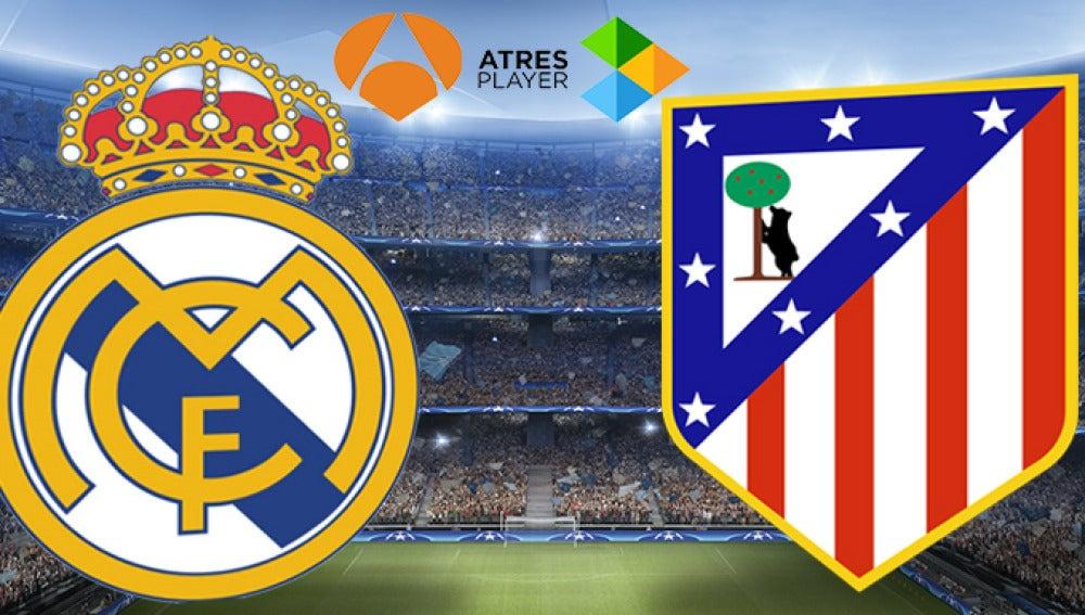 Real Madrid - Atlético de Madrid, en directo en Antena 3 y Atresplayer