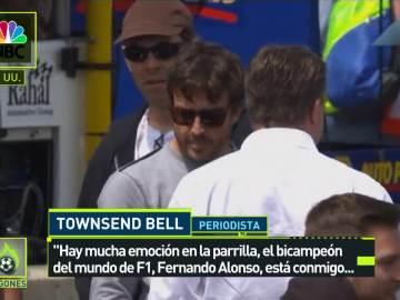 Fernando Alonso, en una prueba de la Indy Car en EEUU