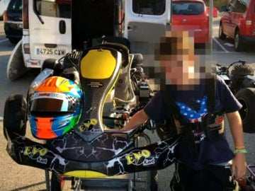 Gonzalo, el pequeño fallecido en un accidente de karts