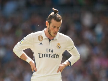 Gareth Bale se lamenta durante un partido con el Madrid