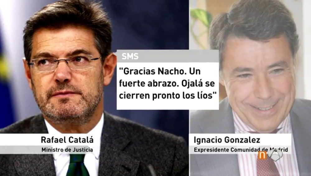 Mensajes entre Catalá y González