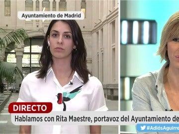 Rita Maestre, portavoz del Ayuntamiento