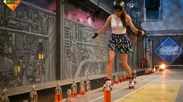 Pilar Rubio supera uno de sus mayores miedos en 'El Hormiguero 3.0' sobre unos patines