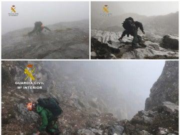 Equipo de rescate en los Pirineos