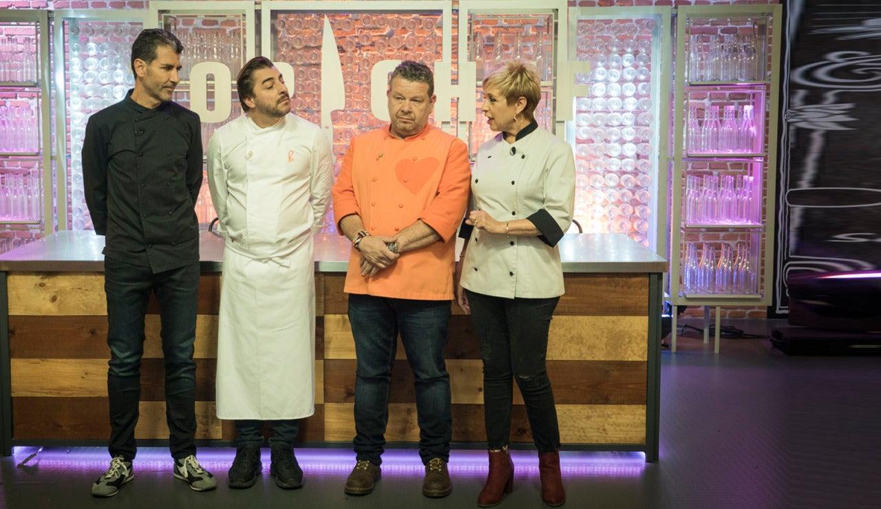 Jordi Roca y el jurado de 'Top Chef'