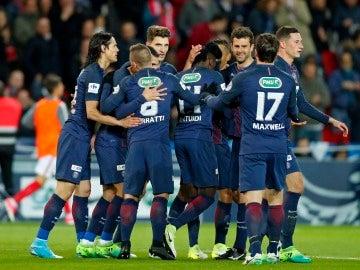 El PSG celebrando uno de sus goles