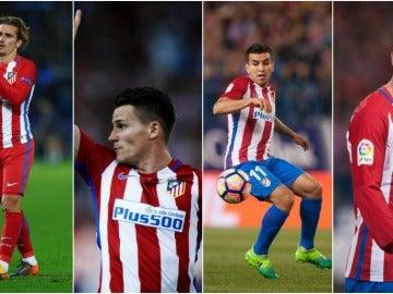 Las opciones del ataque del Atlético para Simeone