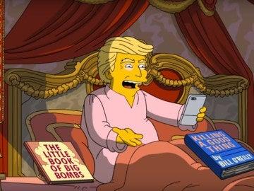 Parodia en 'Los Simpson' de los 100 primeros días de Donald Trump como presidente de EEUU