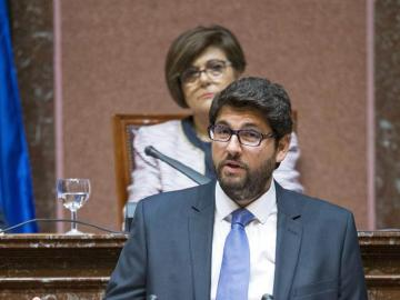 Fernando López Miras en el pleno de investidura