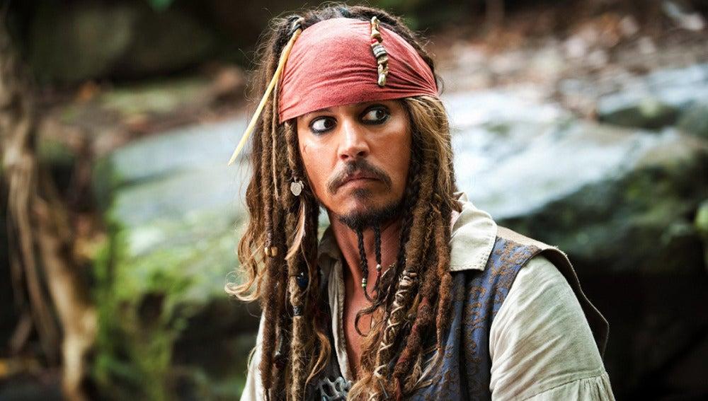 Jack Sparrow en 'Piratas del Caribe'