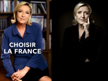 "Frame 16.987655 de: ""Elegir Francia"", el eslogan de Le Pen para la segunda vuelta"
