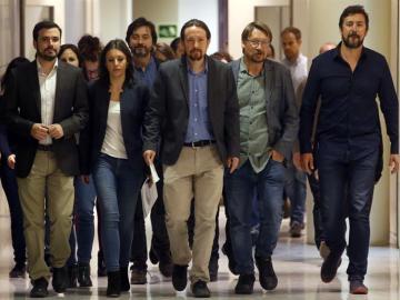 Representantes de Unidos Podemos