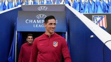 Fernando Torres, en un partido de la Champions