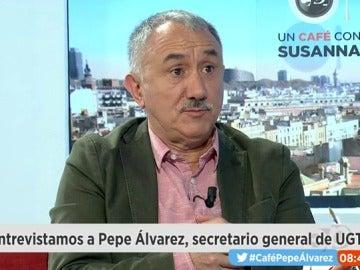 Pepe Álvarez, líder de UGT