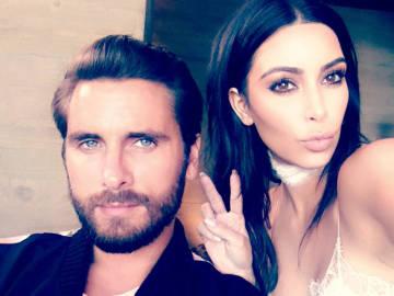 Scott Disick y Kim Kardashian