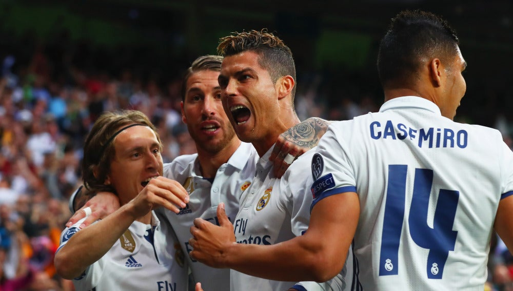 Cristiano Ronaldo celebrando un gol al Atlético de Madrid