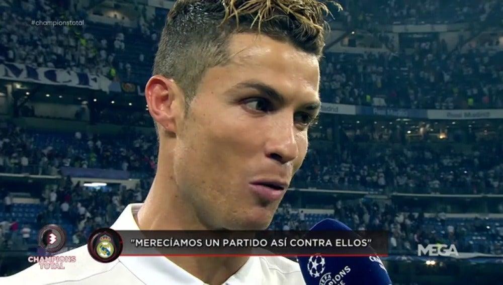 """Frame 97.048421 de: Cristiano: """"Ha sido un partido total del equipo, pero la eliminatoria no está cerrada"""""""