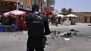 Un policía egipcio