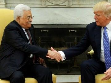 Mahmud Abás y Donald Trump