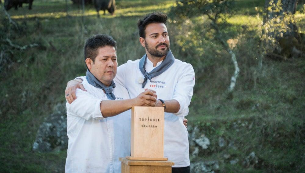 Víctor y Montoro se convierten en los primeros semifinalistas de 'Top Chef'