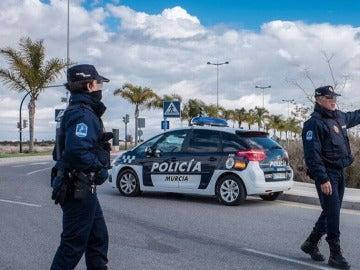 Varios agentes de Policía en Murcia