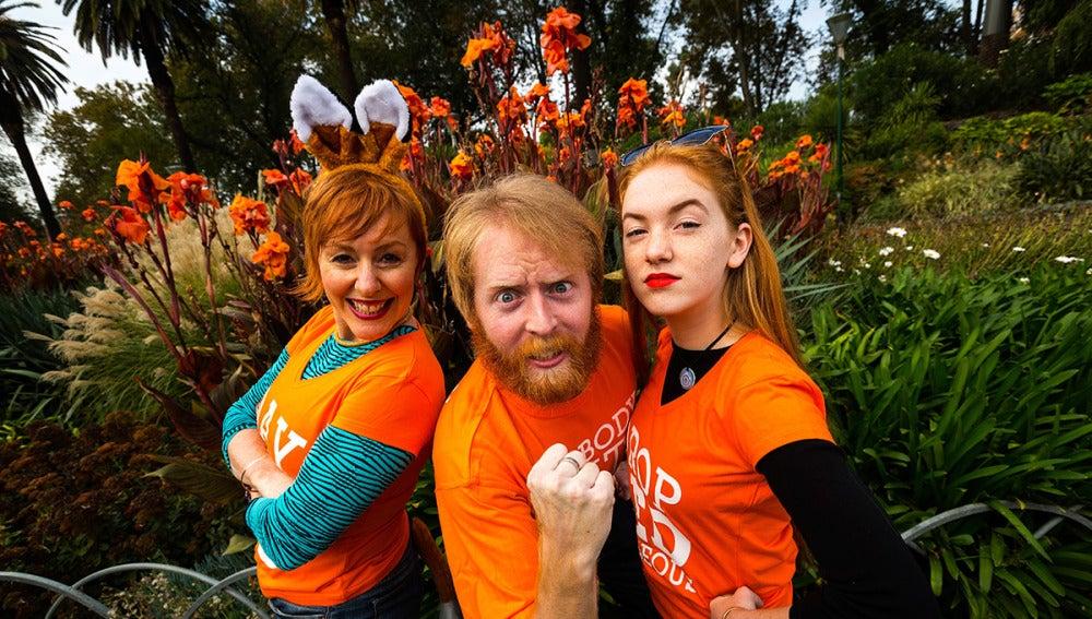 Tres pelirrojos celebran el 'Día del orgullo pelirrojo'