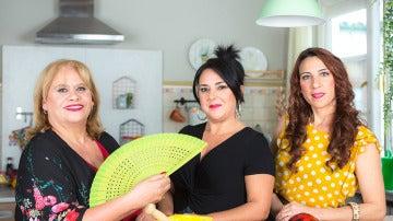 Carmina Barrios, Carmen Frigolet y Antonia Gómez son Las vecinas de Carmen en 'Allí Abajo'