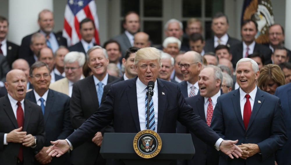 Donald Trump, tras ser aprobada la derogación del Obamacare