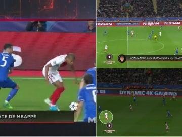 Mbappé, en acción ante la Juventus
