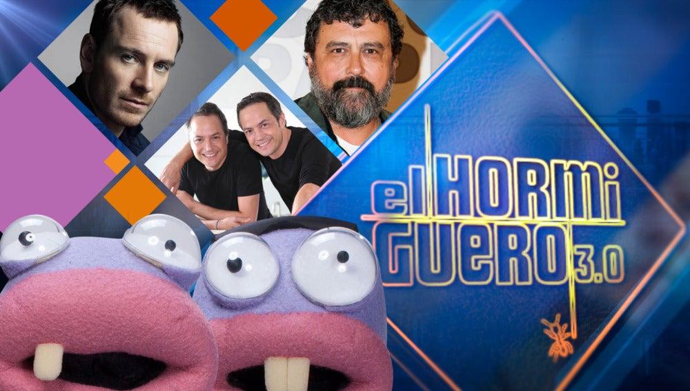 Michael Fassbender, Paco Tous y Sergio con Javier Torres en 'El Hormiguero 3.0'