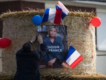 Cartel electoral de Marine Le Pen