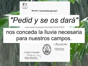 Frame 17.0714 de: El Arzobispado de Burgos pide a los feligreses que recen para que llueva