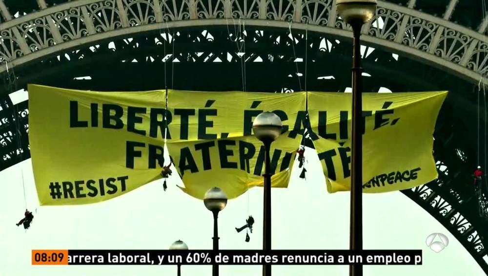 Pancarta Greenpeace