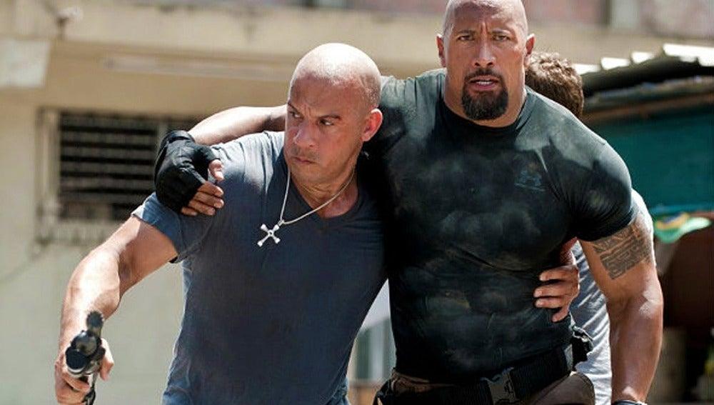 Vin Diesel y Dwayne Johnson en 'Fast & Furious'