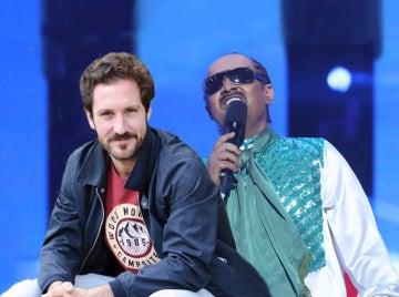 El bonito mensaje del actor Álex Gadea a Germán Scasso por su actuación de Stevie Wonder en 'Tu cara no me suena todavía'
