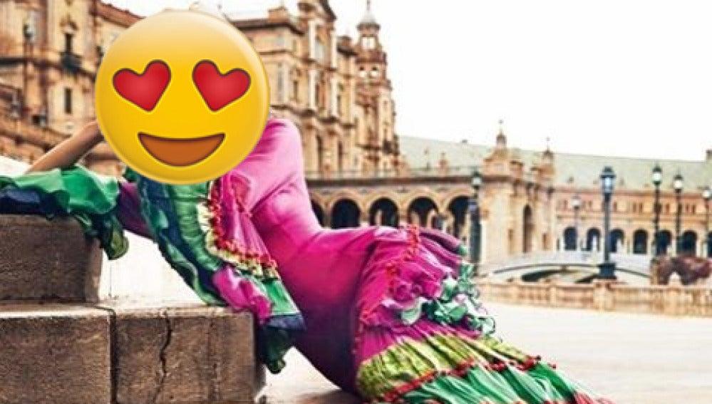 El posado más flamenco de María León