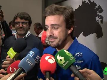 Fernando Alonso, en un acto en Asturias