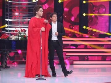 Mónica Naranjo se emociona con Adrián Quiles como María Callas