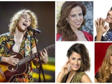Mirela, Edurne o Pastora Soler le desean suerte a Manel Navarro antes de Eurovisión